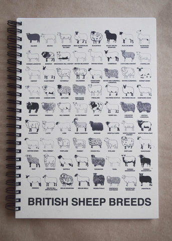 British Breeds Spiralbound Notebook SALE
