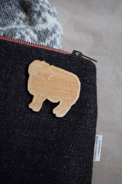 British Sheep Breeds Pin Badge