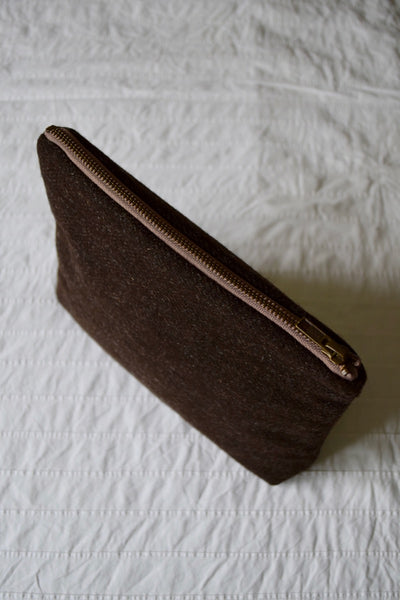 woollenflower EXTRA LARGE Tweed Pouch