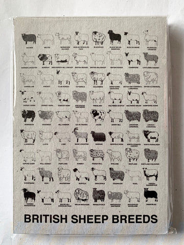 British Sheep Breeds notepad