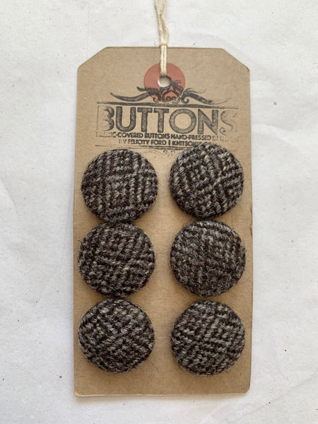 Tweed Fabric Covered Buttons