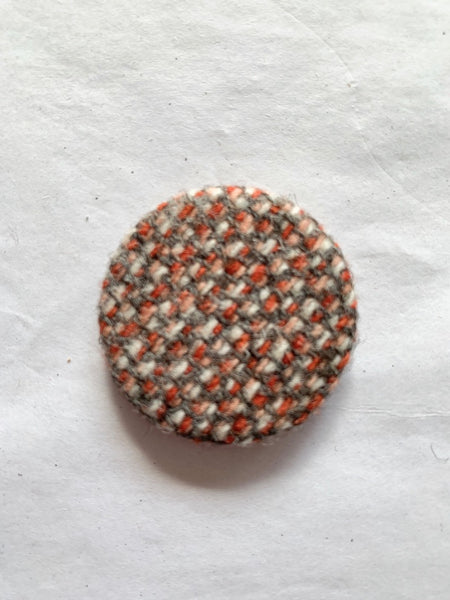 Tweed Cloth Covered Badges
