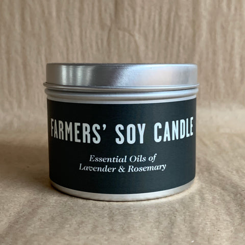 FARMERS' soy wax candle