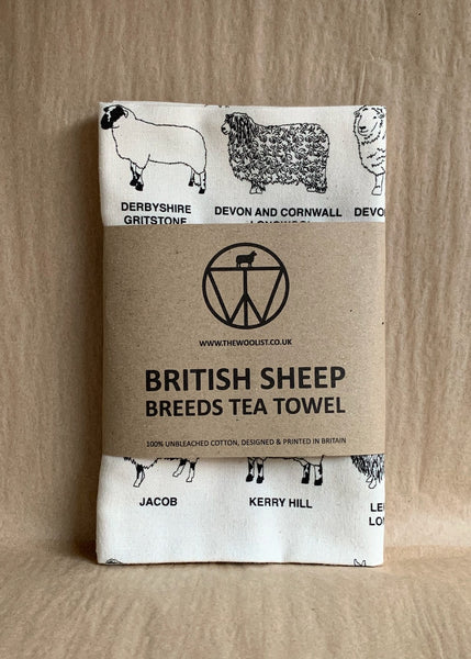 British Sheep Breeds Tea Towel by The Woolist