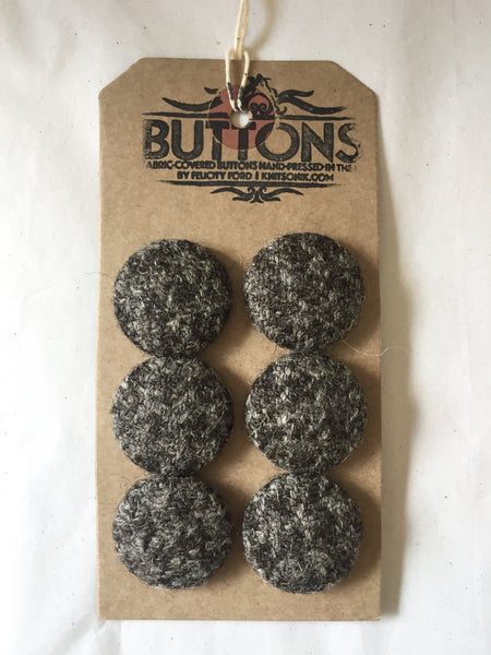 Hebridean Tweed covered buttons