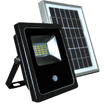 REFLECTOR LED PANEL SOLAR CON SENSOR INTEGRADO 20W - LUMIKON