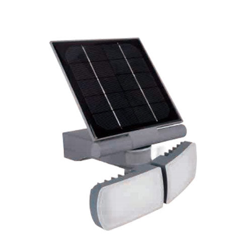 REFLECTOR LED DE SEGURIDAD CON PANEL SOLAR 8W 6 500K IP44 SENSOR MOV - LUMIKON