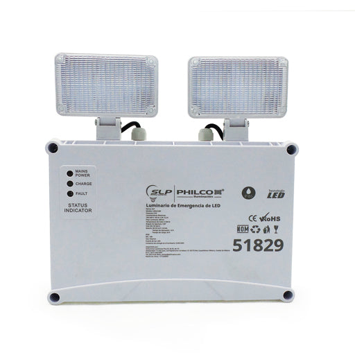 Reflector de Emergencias Empotrable 6W 6500K - LUMIKON