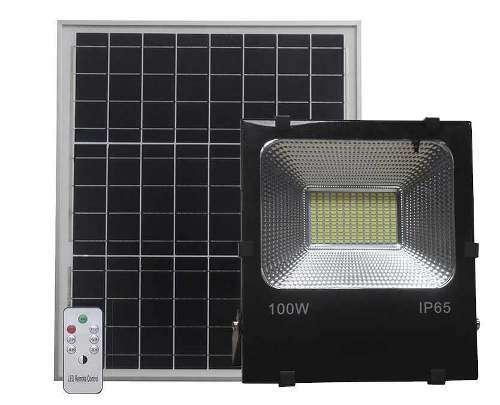 REFLECTOR SOLAR LED 100W PANEL Y CONTROL - LUMIKON