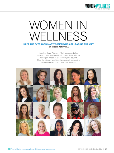Ann Brown Named Women in Wellness Philanthropist by American Spa