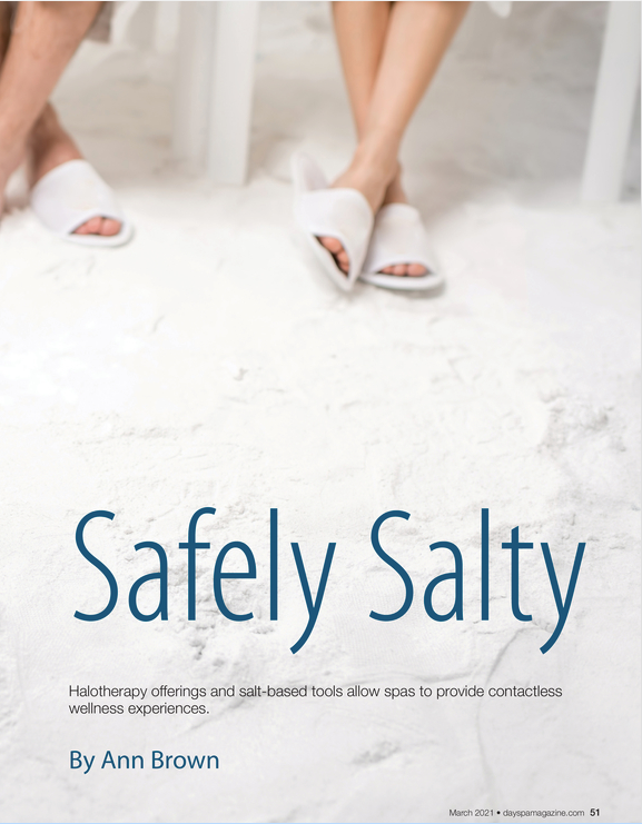 """""""Safely Salty,"""" by Ann Brown in DaySpa's March 2021 issue"""