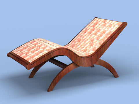 new himalayan salt lounge chair offers unique boost for spa guests