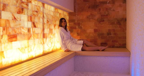 Himalayan Salt Wall at Spa