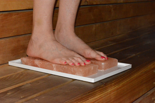 Himalayan salt detox foot tray