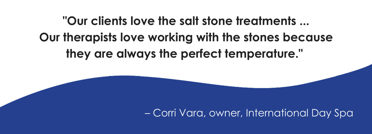 Clients love the salt stone treatments