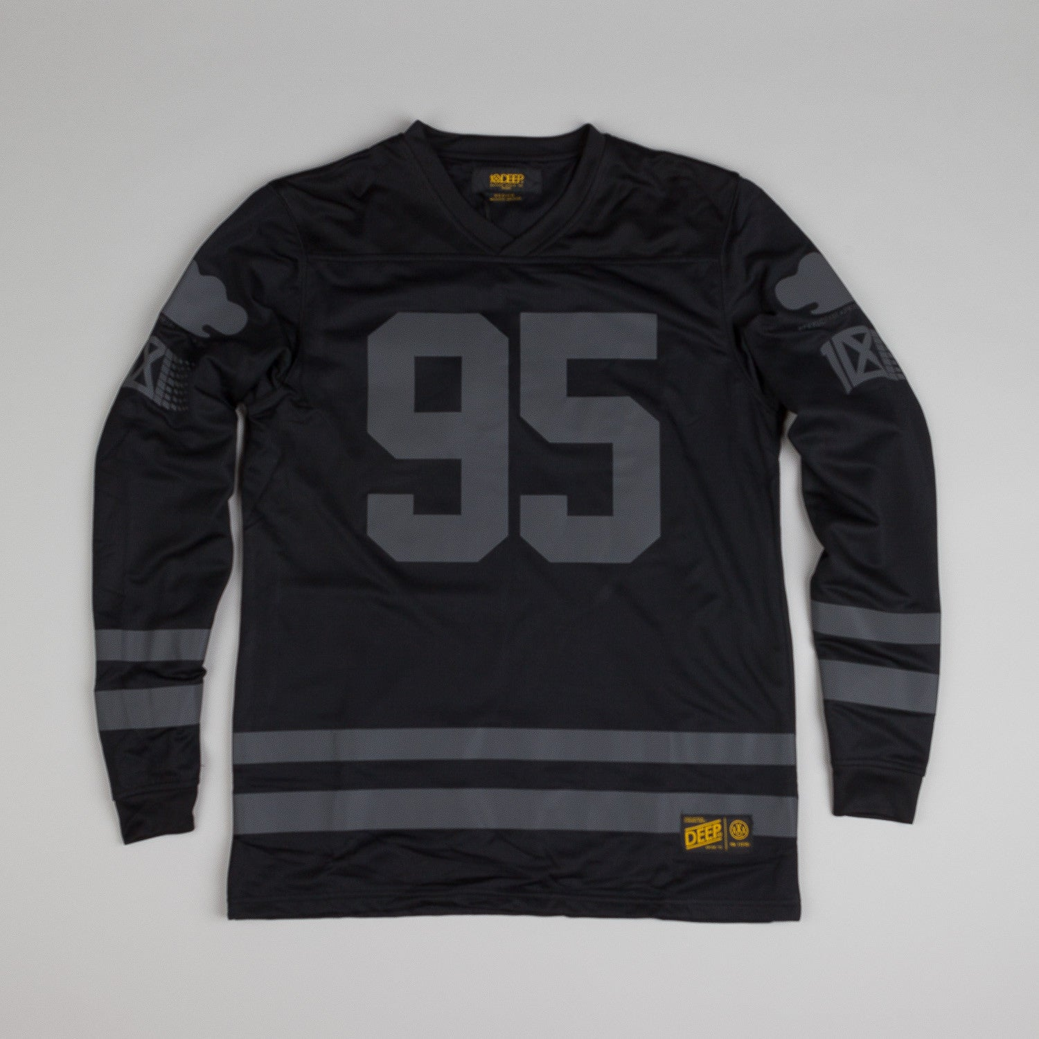10.Deep All Saints Mesh Jersey Black