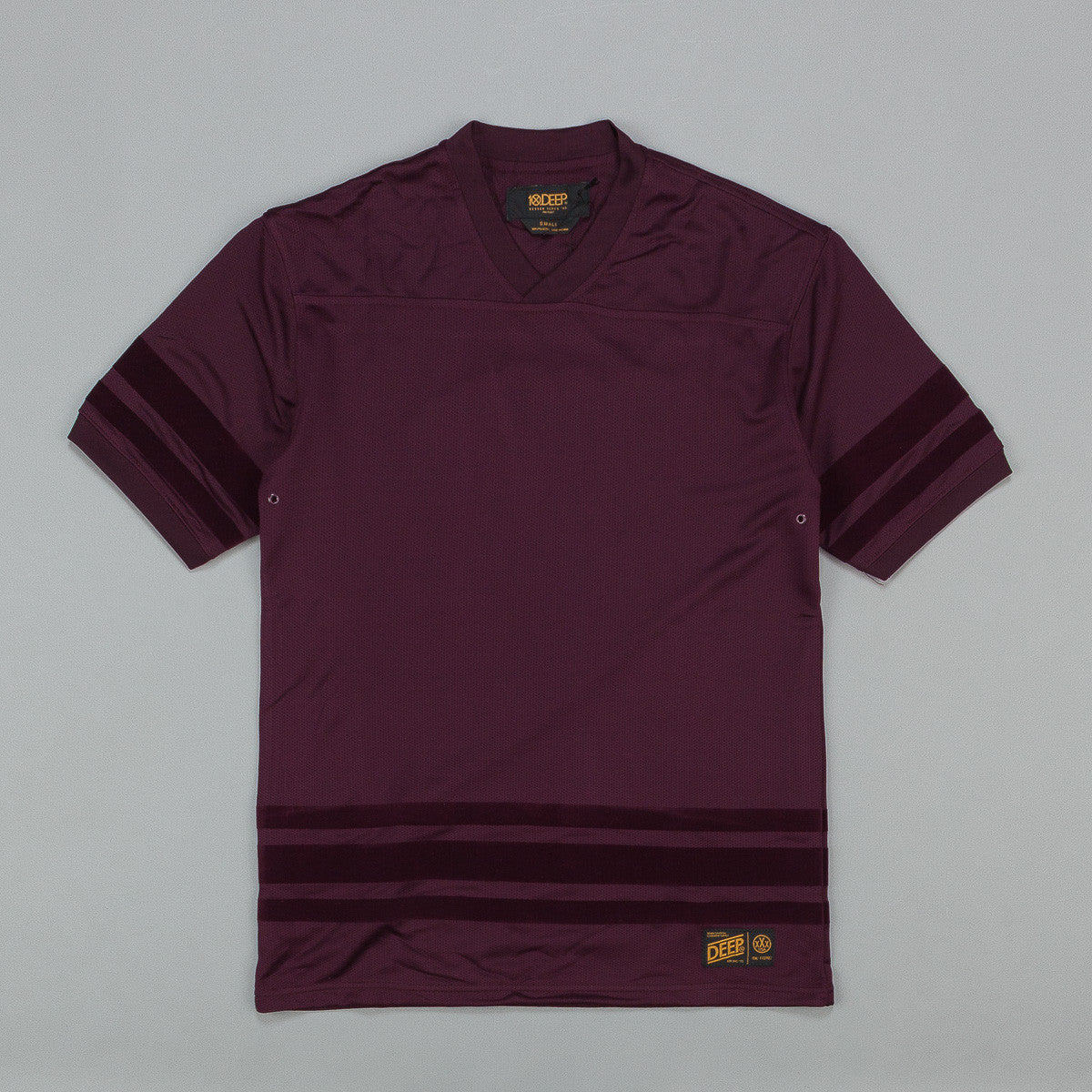 10.Deep Zip Drive Mesh Football Jersey Burgundy