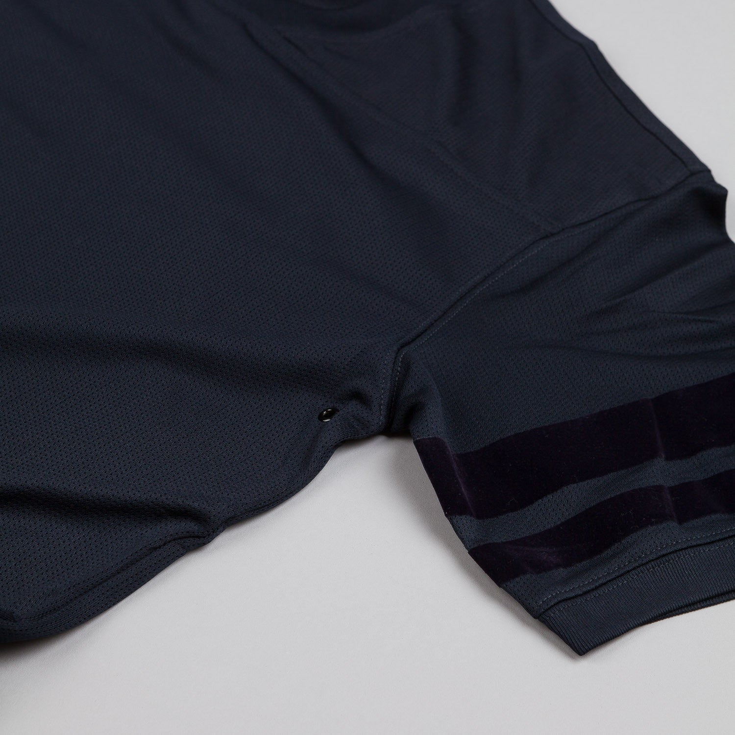 10.Deep Zip Drive Mesh Football Jersey Navy