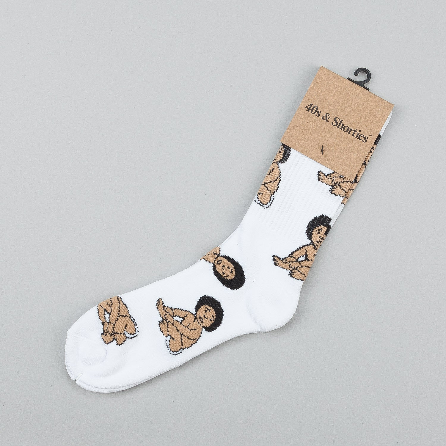 40s & Shorties Biggie Baby Socks - White