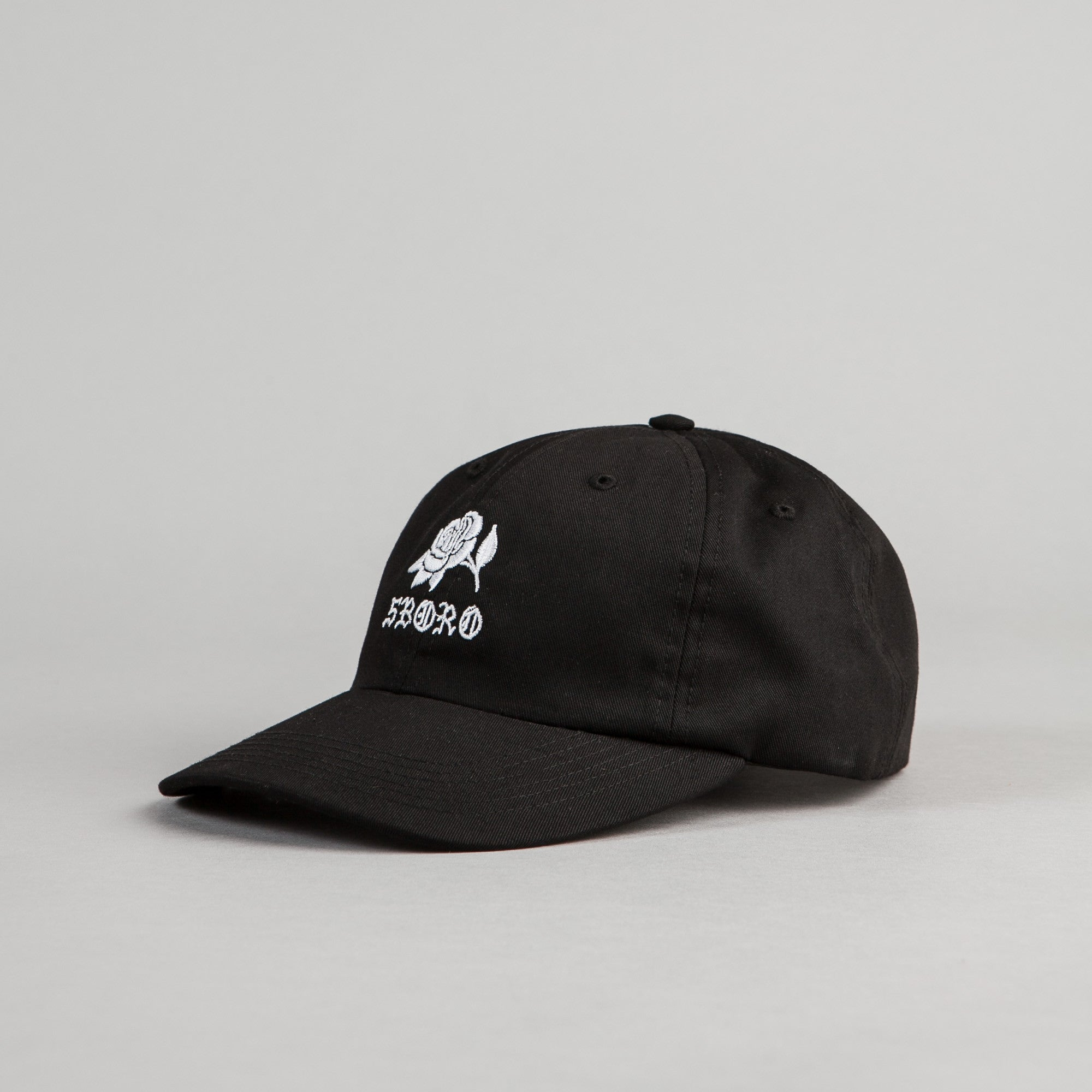 5Boro 5B Rose Six Panel Cap - Black