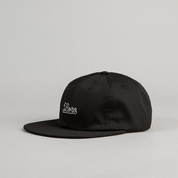 5Boro 5B Script Six Panel Cap - Black