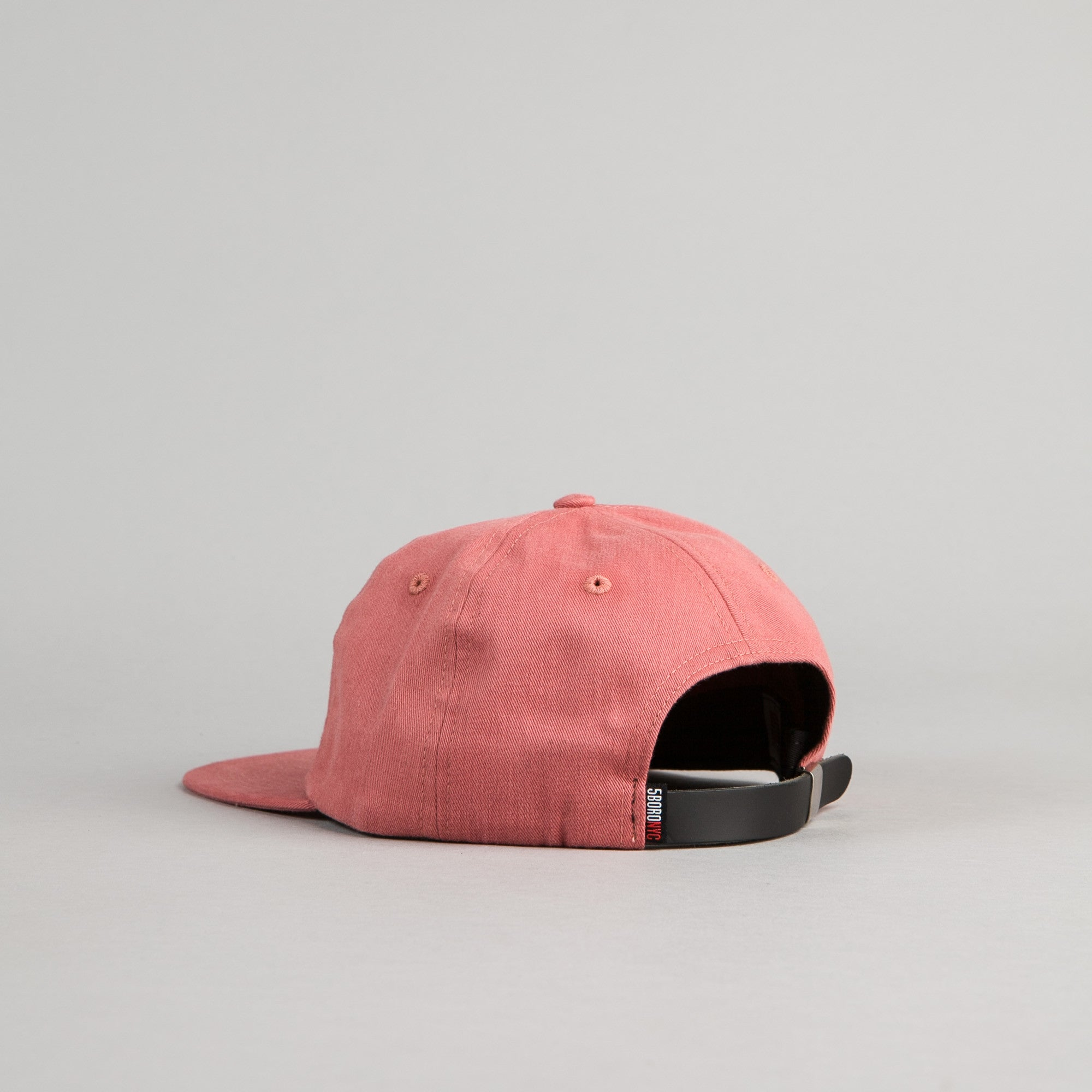 5Boro 5B Script Six Panel Cap - Red