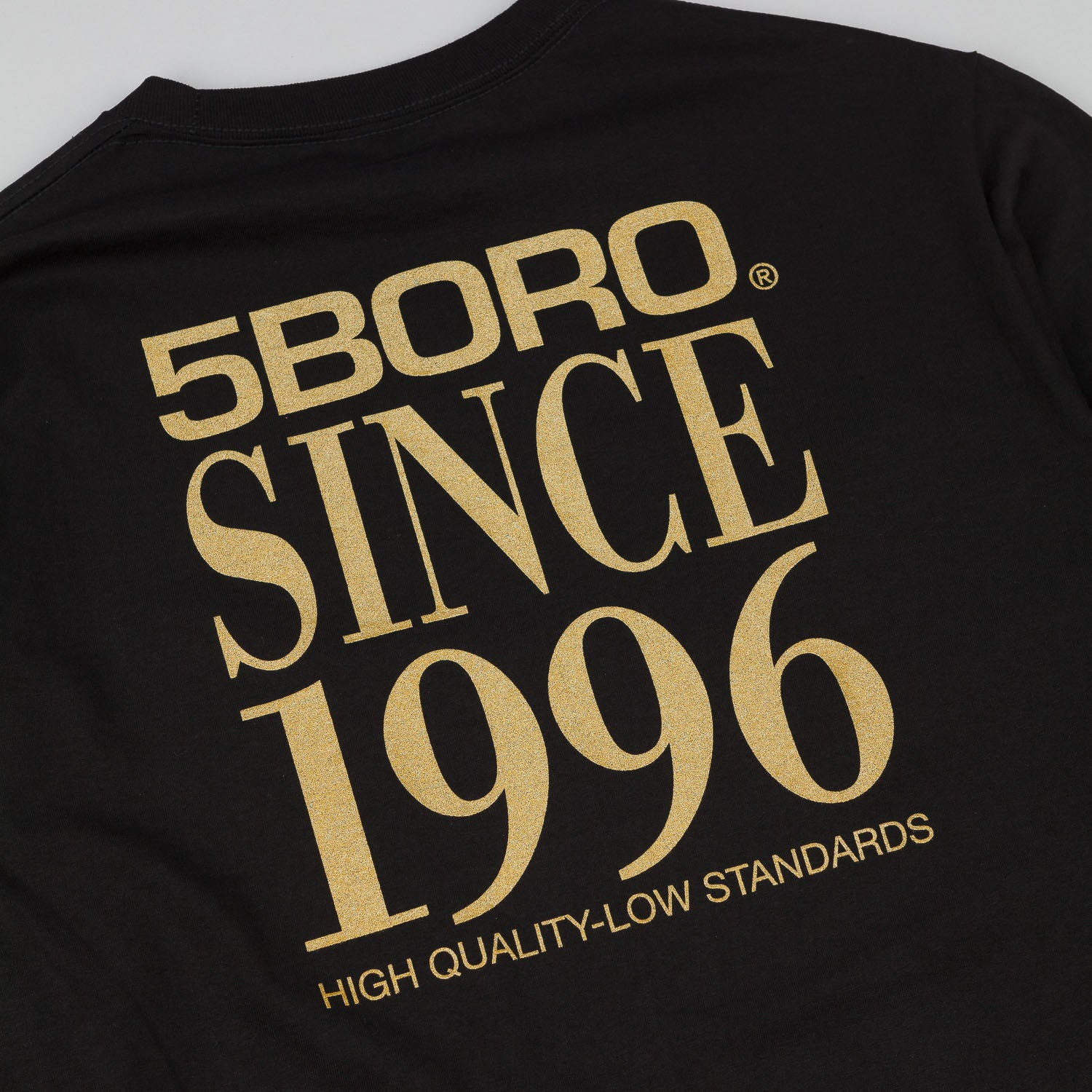 5Boro 5B VHS Stack Long Sleeve T-Shirt - Black / Gold