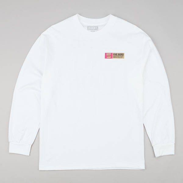 5Boro 5B VHS Stack Long Sleeve T-Shirt  - White / Gold