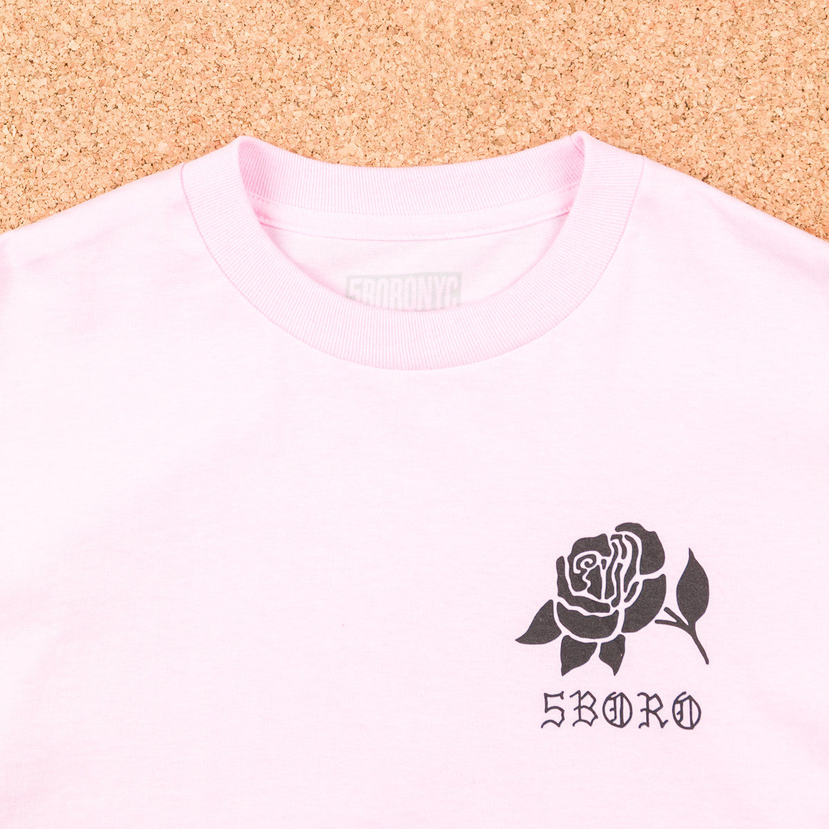 5boro 5B Rose T-Shirt - Pink / Black
