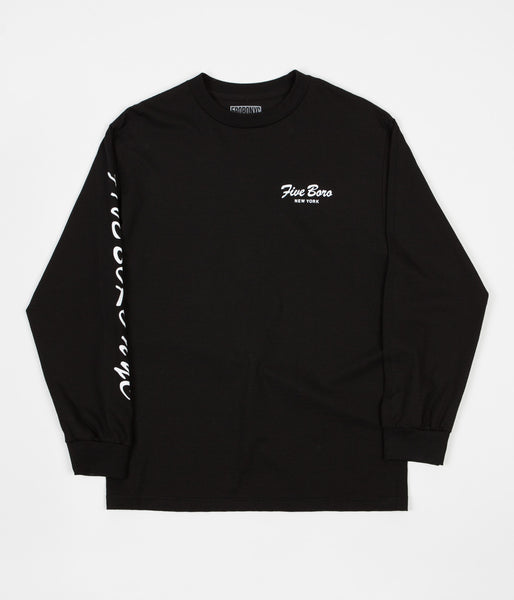 5Boro Burning Rose Long Sleeve T-Shirt - Black