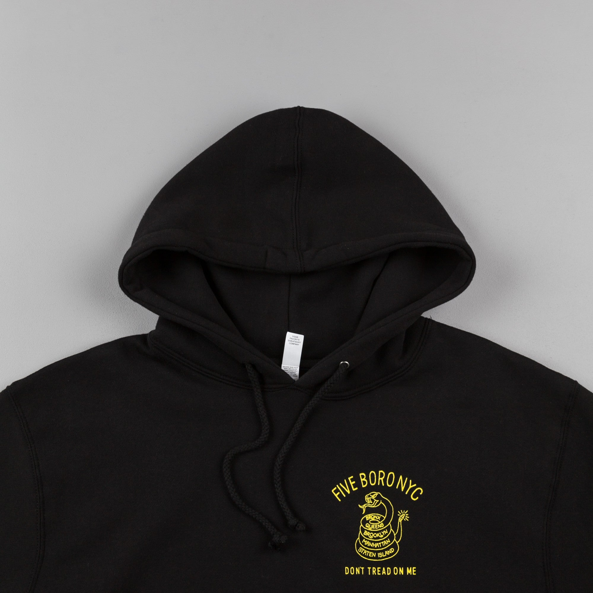 5Boro Don't Tread Hooded Sweatshirt - Black