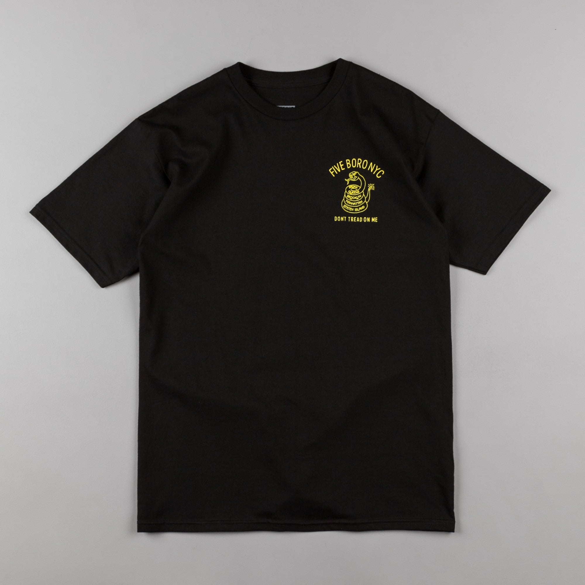 5Boro Don't Tread T-Shirt - Black / Yellow