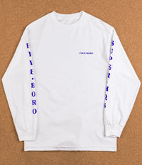 5Boro Dragon Long Sleeve T-Shirt - White