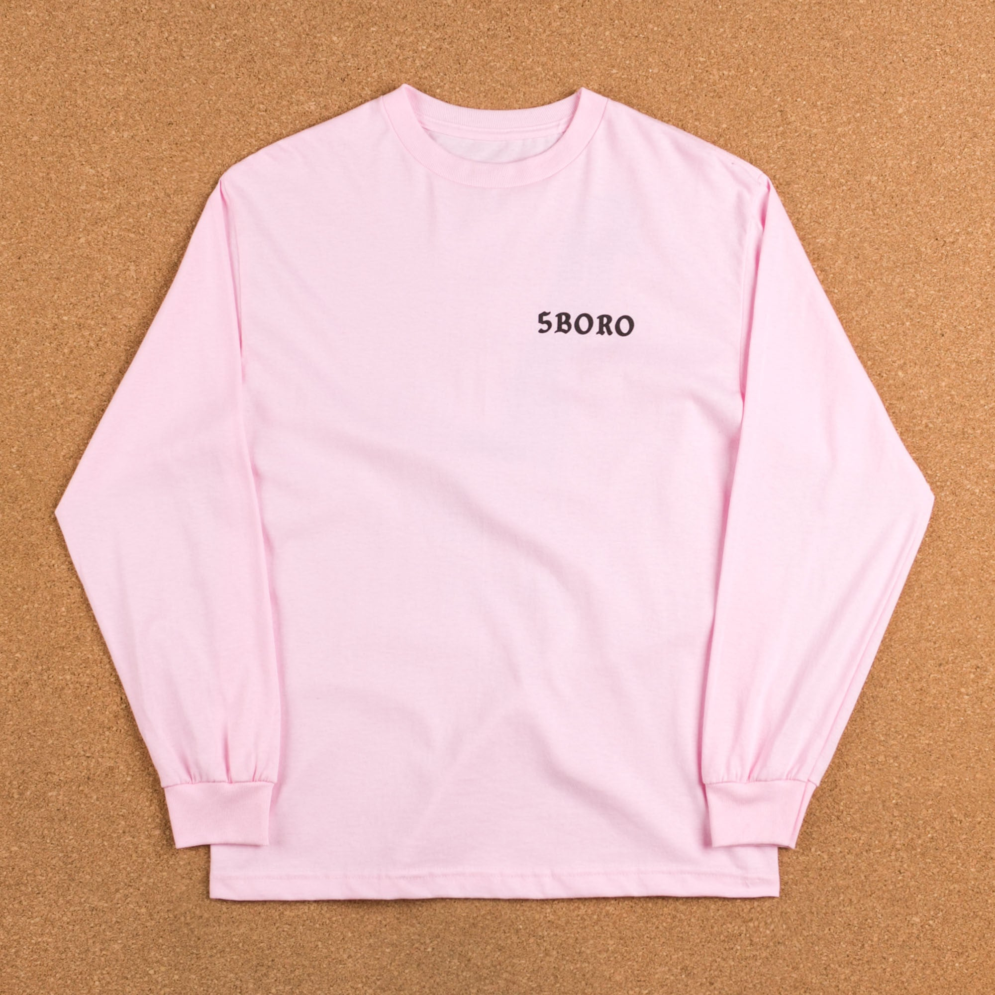 5Boro Skull & Heel Long Sleeve T-Shirt - Pink