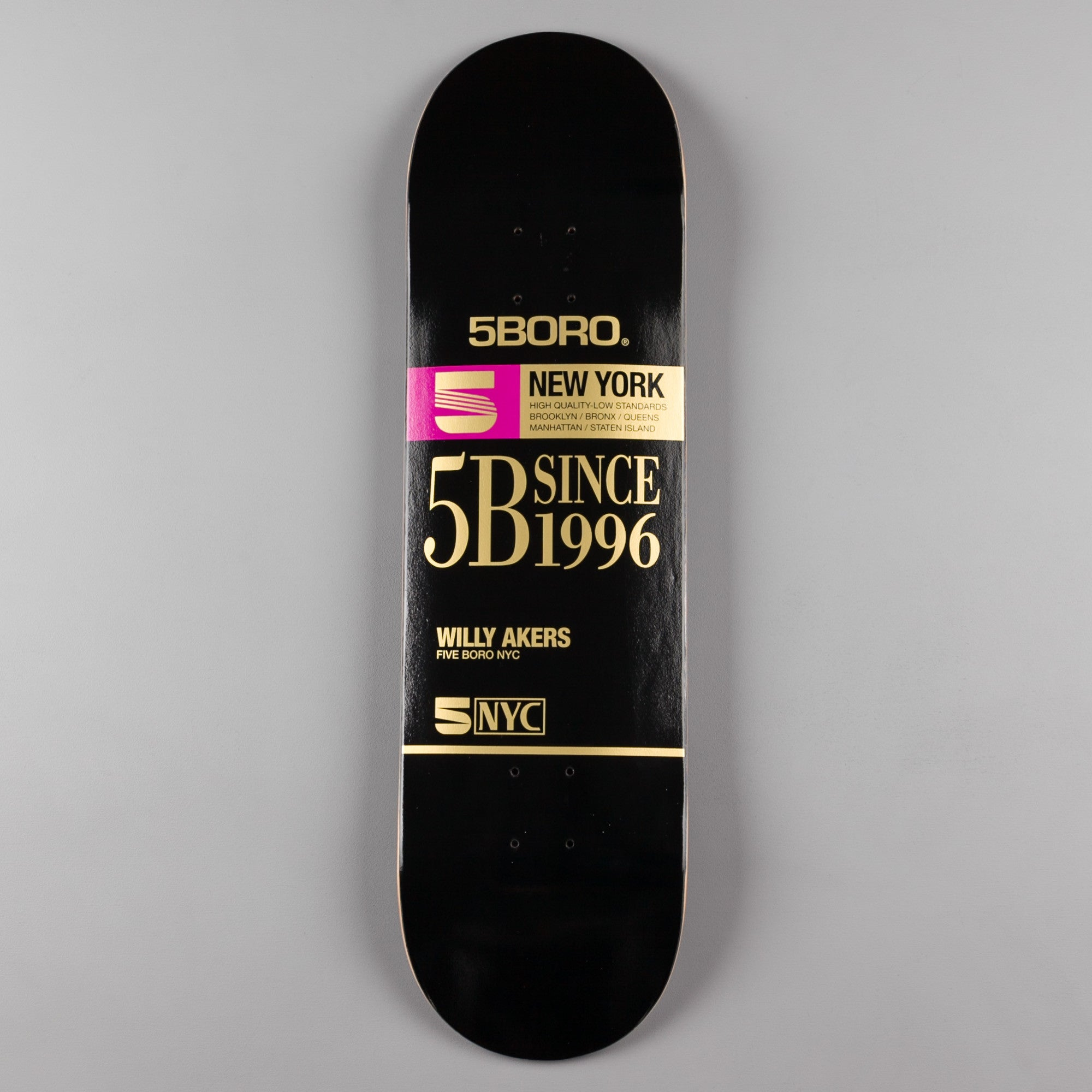 5Boro VHS Pro Series Willy Ankers Deck - 8.5""