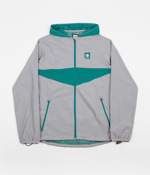 Adidas Dekum Packable Jacket - Light Granite / Active Green