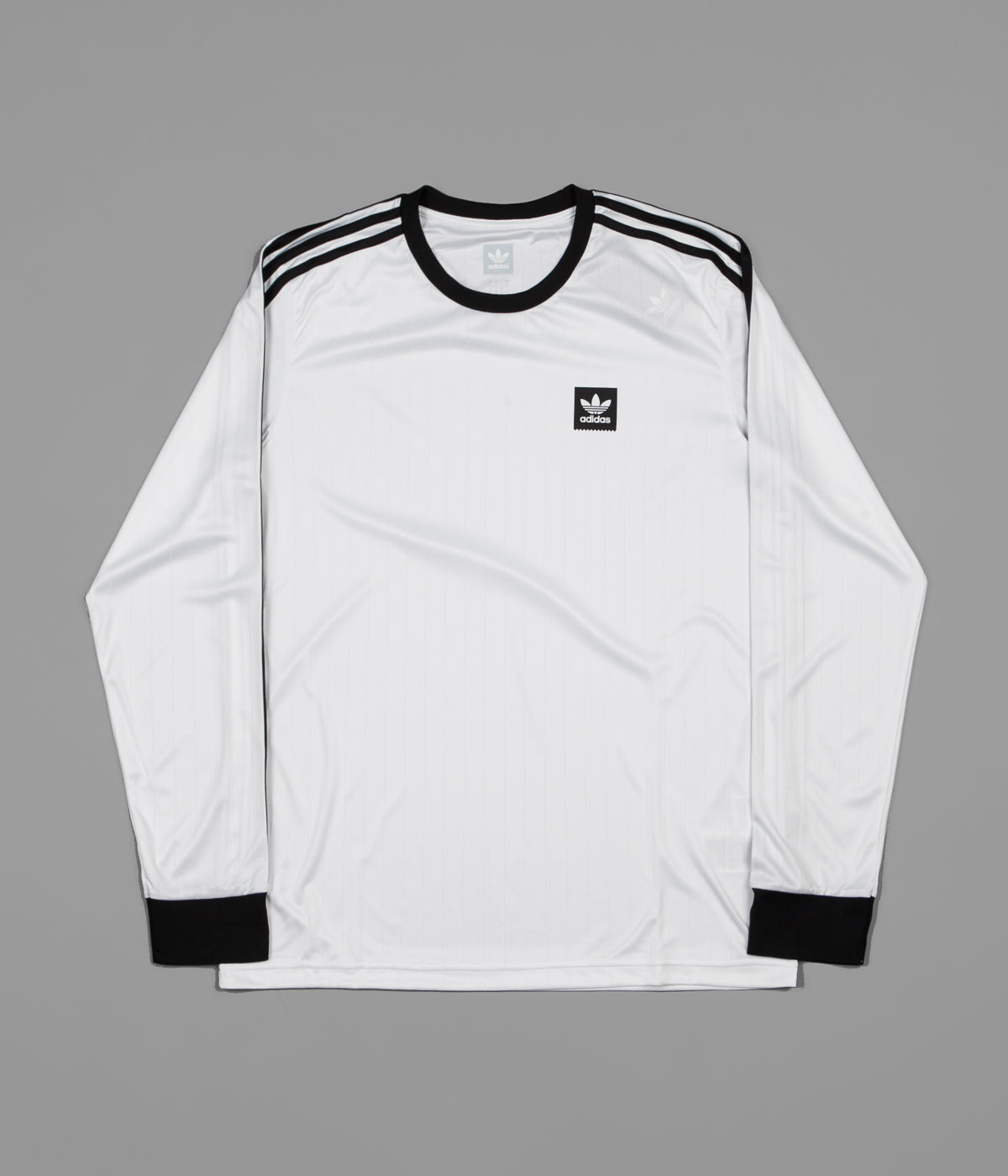 ... Adidas Club Long Sleeve Jersey - White   Black ... 51fdd26a5