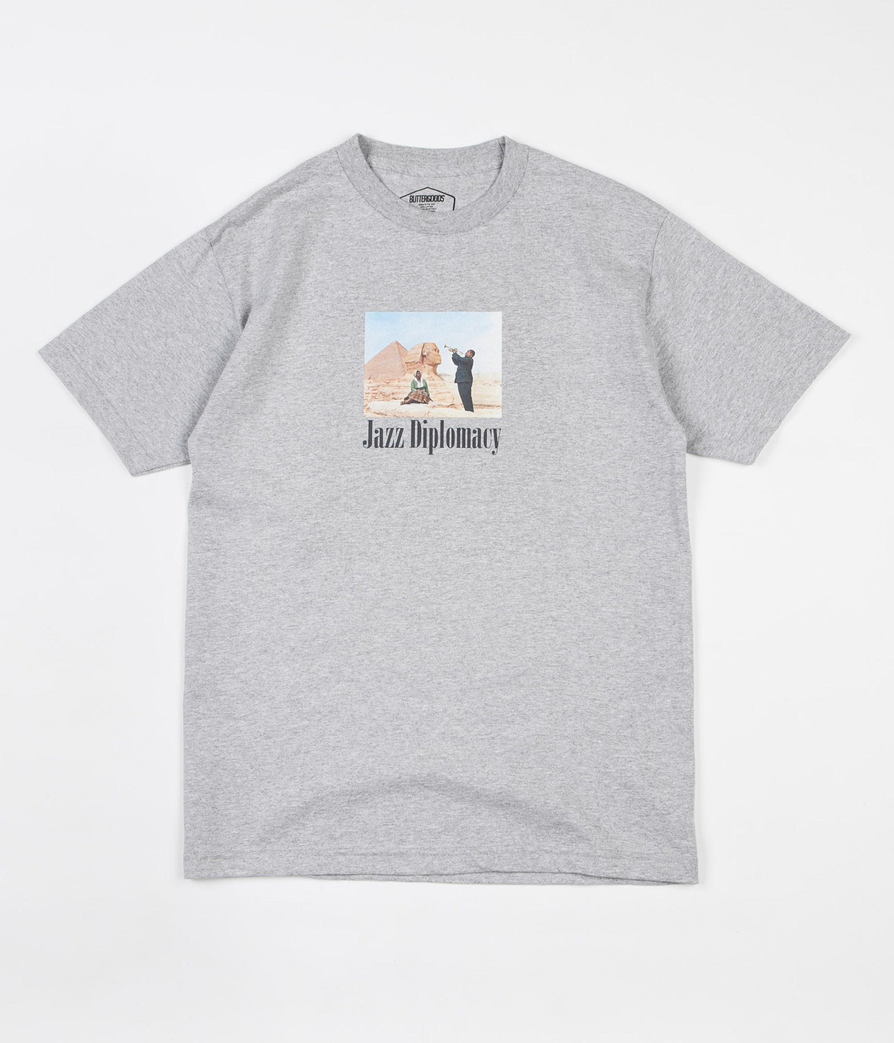 Butter Goods Jazz Diplomacy T-Shirt - Heather Grey