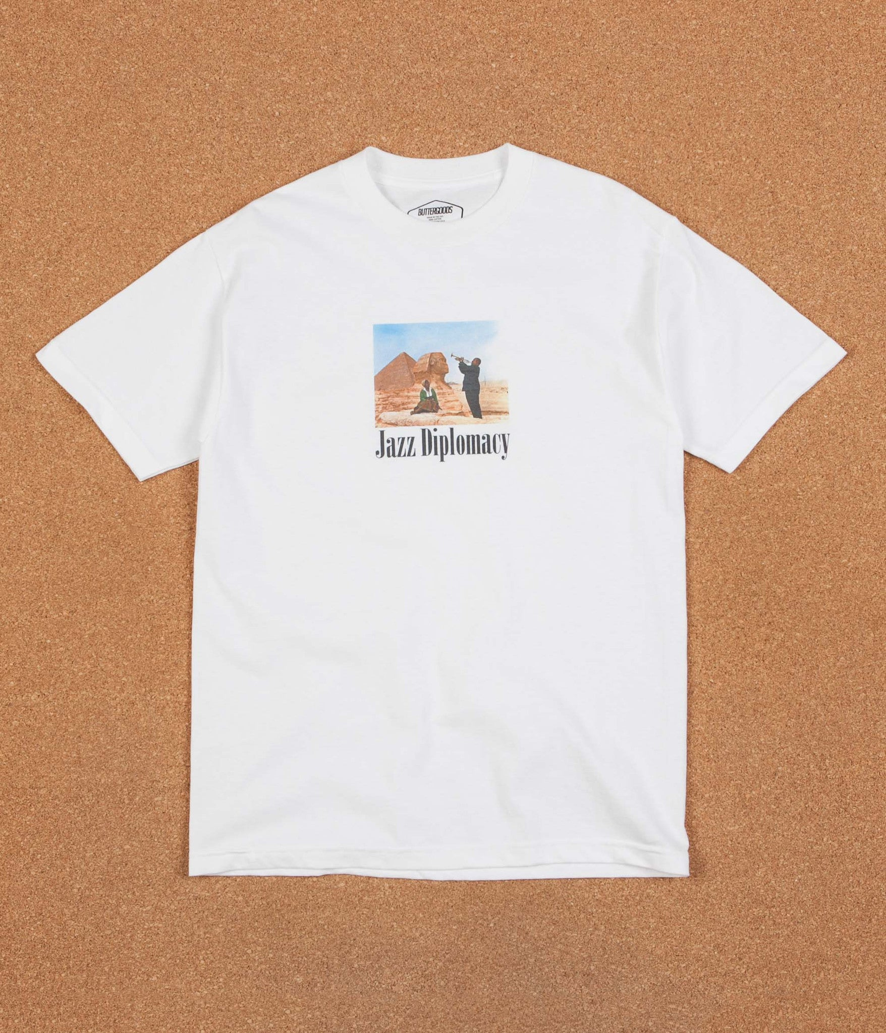 Butter Goods Jazz Diplomacy T-Shirt - White