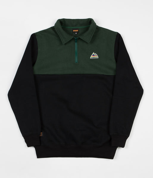 Butter Goods Mountain 1/4 Zip Jacket - Black / Forest