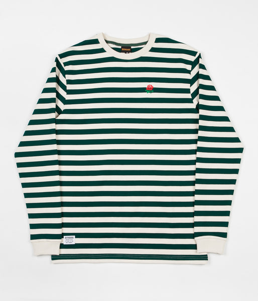 Butter Goods Rose Long Sleeve T-Shirt - Forest / White
