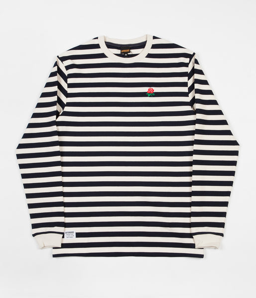 Butter Goods Rose Long Sleeve T-Shirt - Navy / White