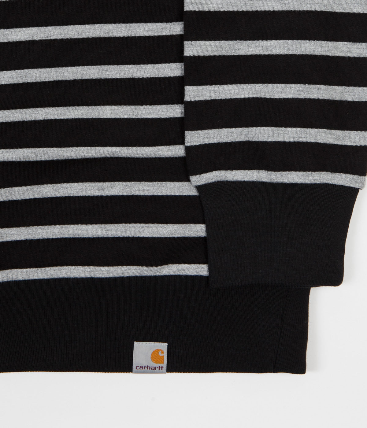 Carhartt Manson Crewneck Sweatshirt - Manson Stripe / Black / Grey Heather