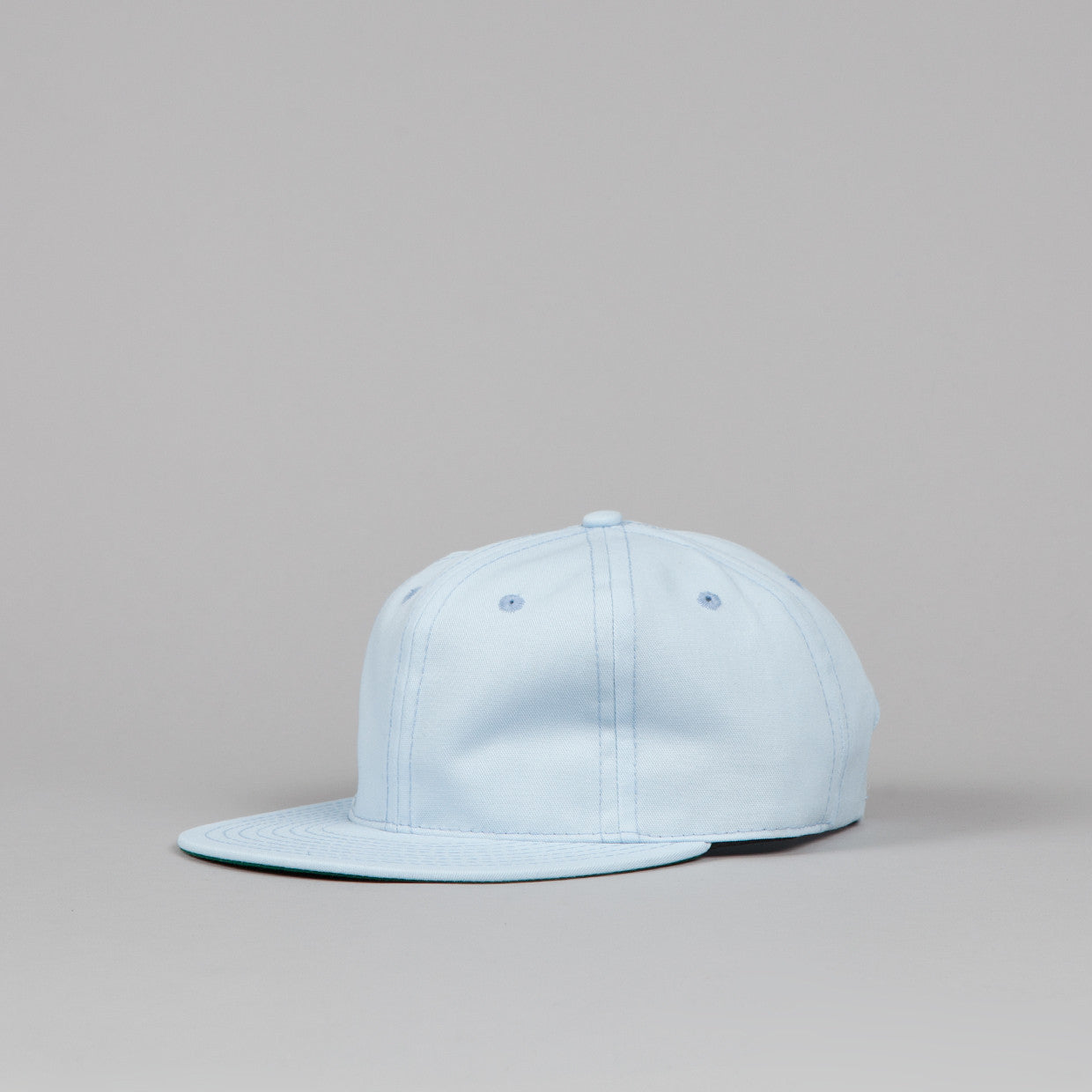 Ebbets Field Flannels Plain Strapback Cap Light Blue