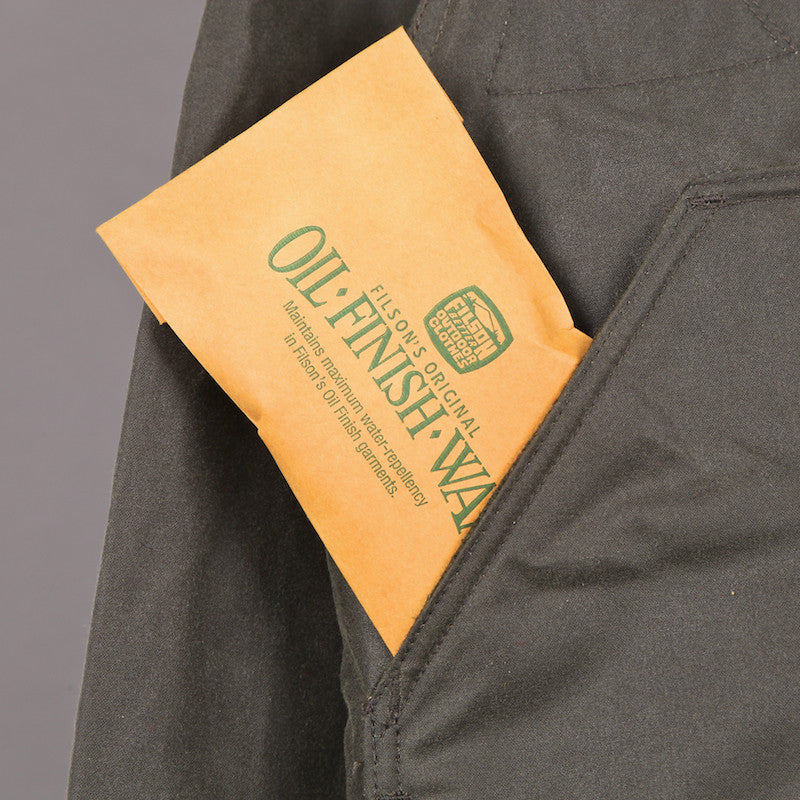 FILSON SHELTER CLOTH WATERFOWL UPLAND JACKET OTTER GREEN