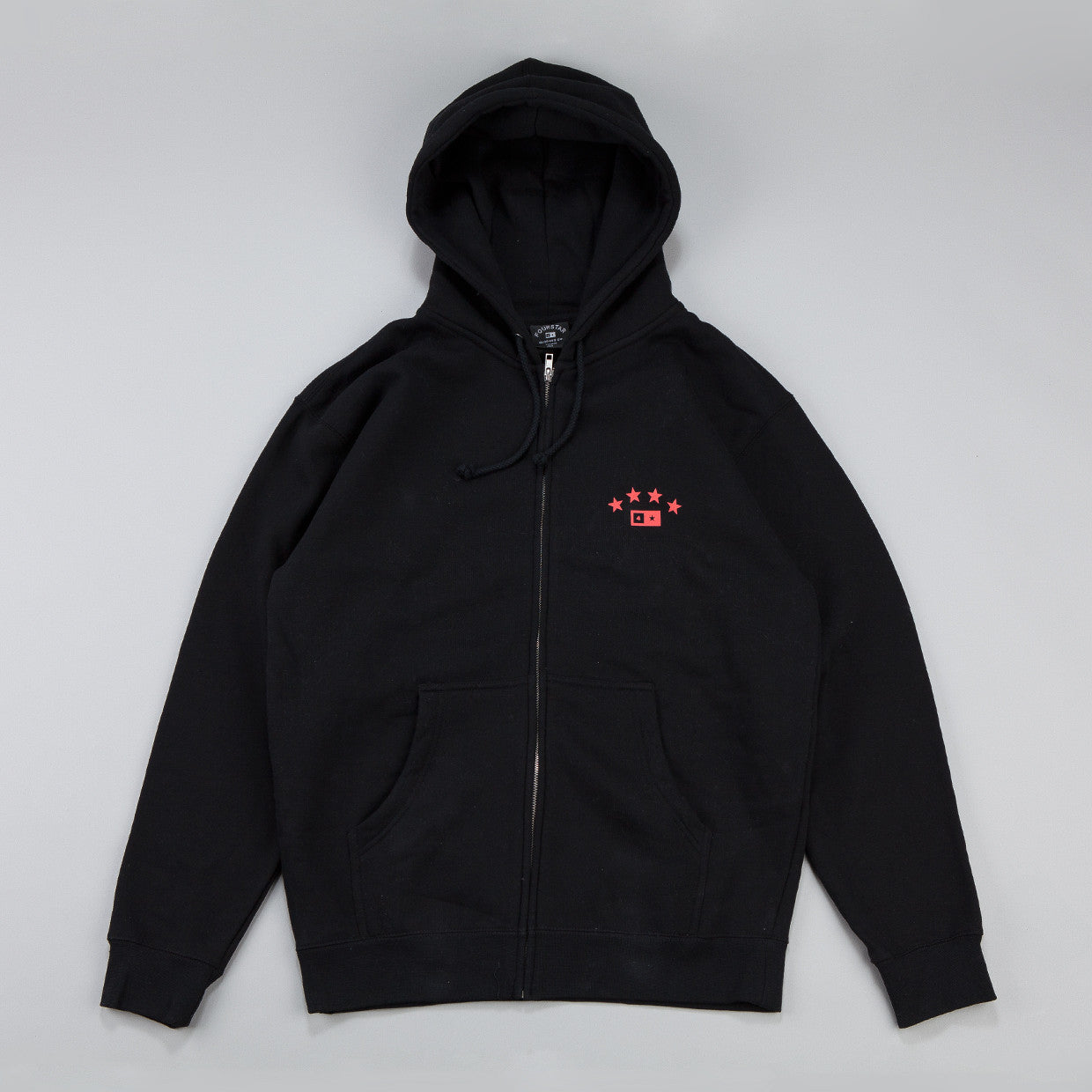 Fourstar FS314 Athletic Zip Hooded Sweatshirt Black