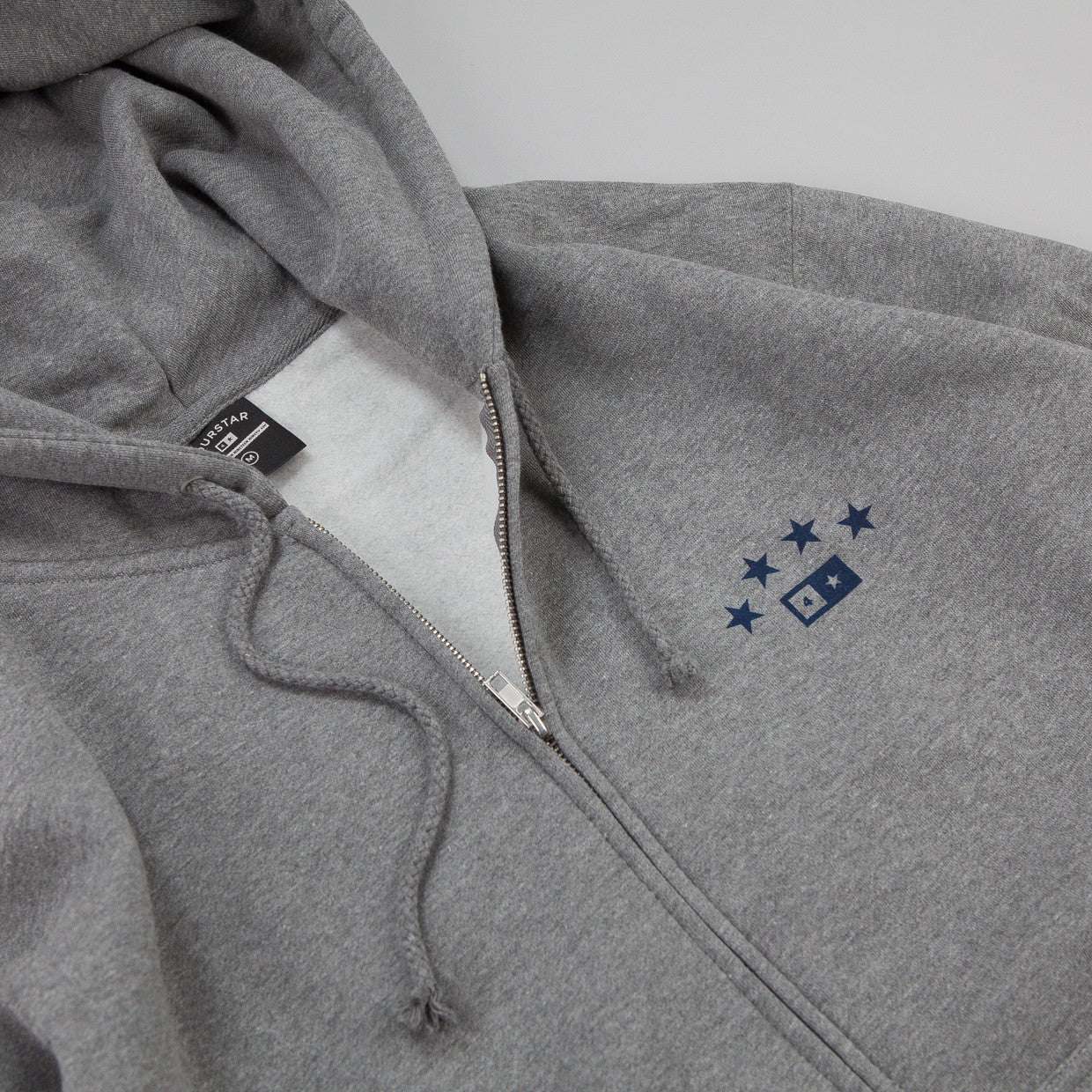 Fourstar FS314 Athletic Zip Hooded Sweatshirt Grey