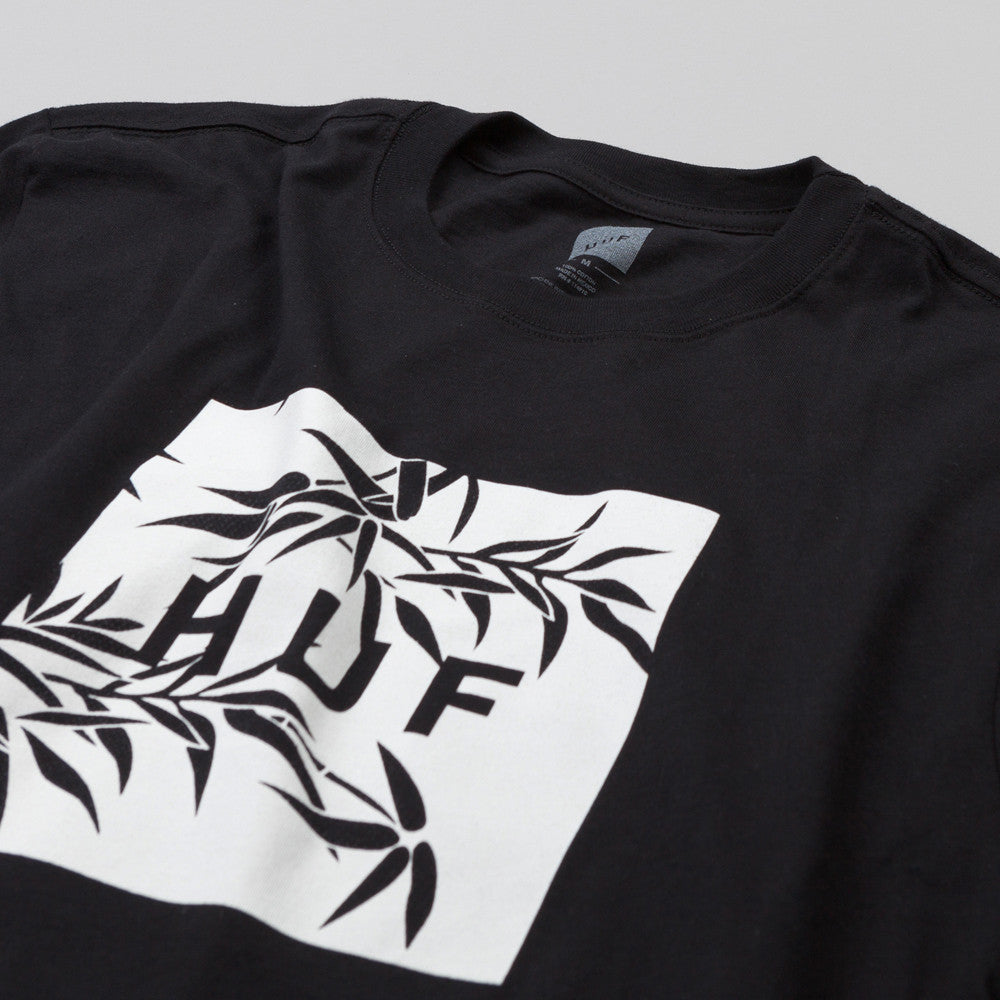 HUF Bamboo Box Logo T Shirt Black