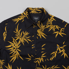 HUF Bamboo Short Sleeve Woven Shirt Black / Gold