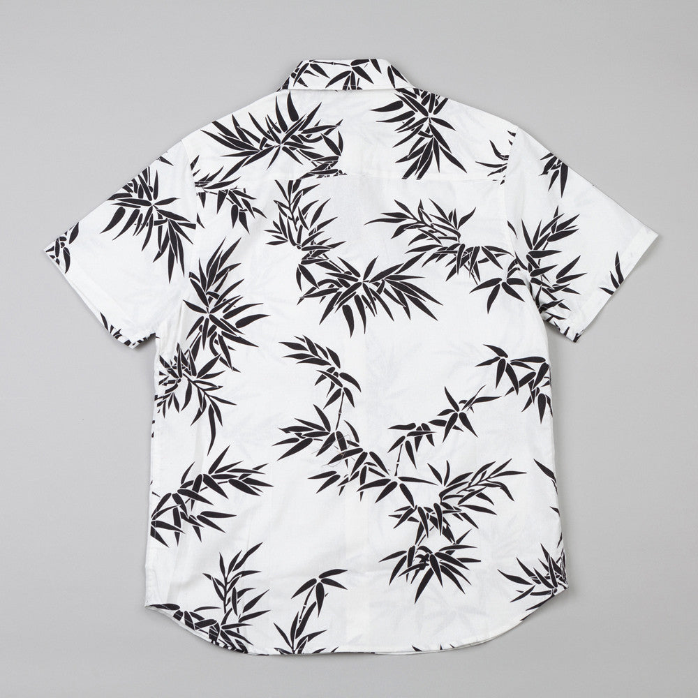 HUF Bamboo Short Sleeve Woven Shirt White / Black